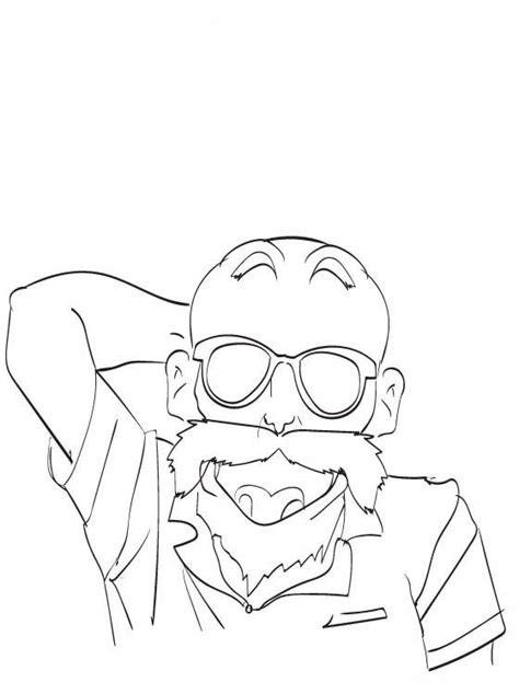 desenho de mestre kame de dragon ball  colorir