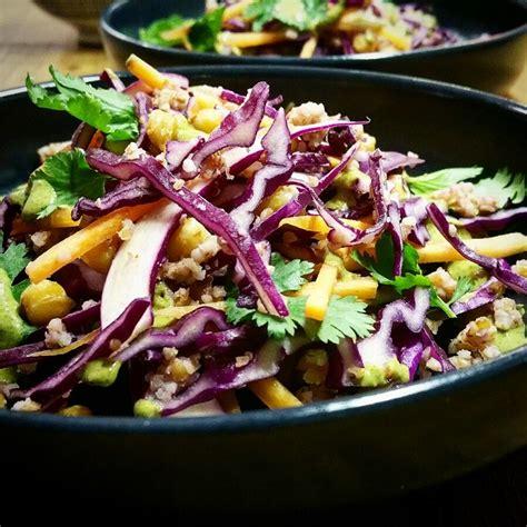 comment cuisiner le choux chou et pois chiches en salade sauce aux graines de