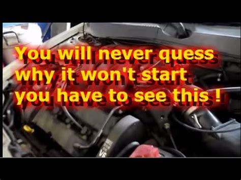 engine cranks  wont start youtube