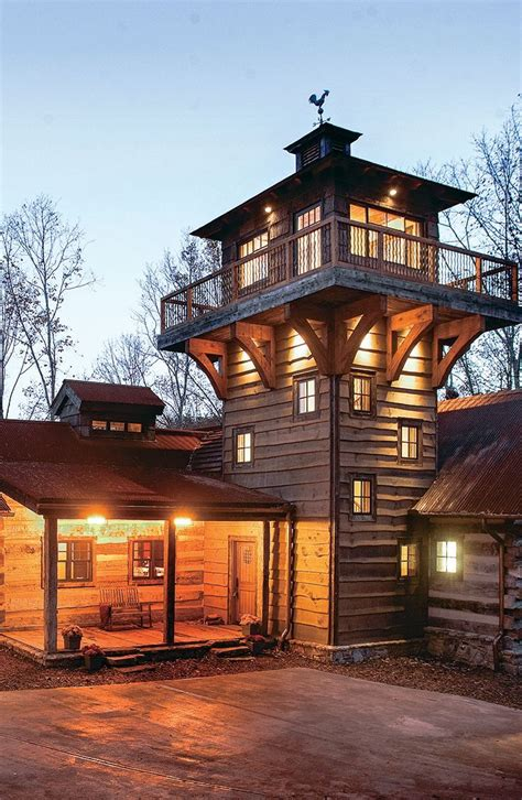 explore  fire tower inspired log  timber home timber house rustic house modern house design