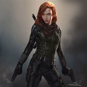 [Infinity War Concept Art] - Black Widow with red hair ...