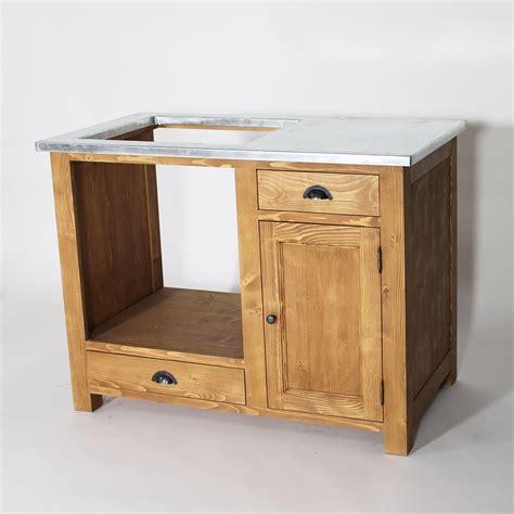 meuble table de cuisine meuble de cuisine en bois pour four et plaques cagne