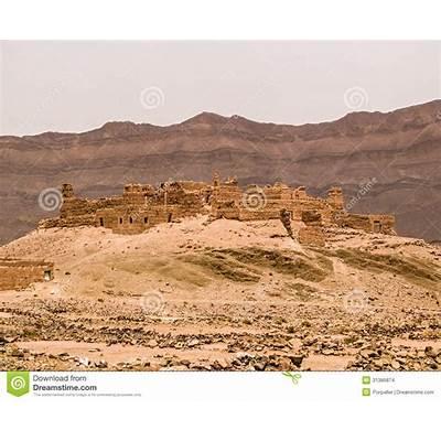 Draa Valley Kasbah stock photo. Image of buildings