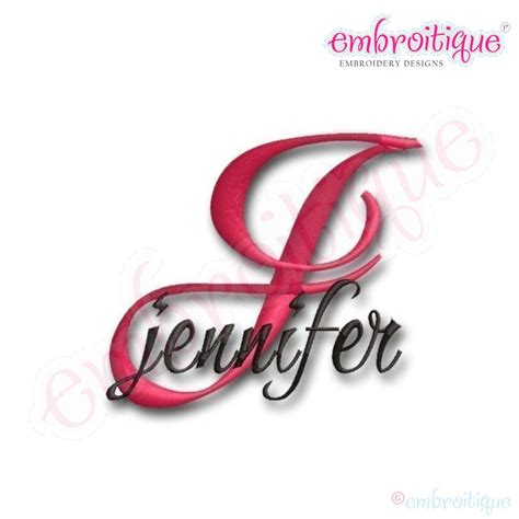 embroitique jennifer monogram font set