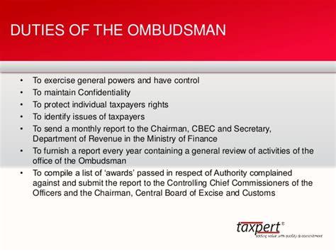 ombudsman  taxpert professionals vinay bhushan