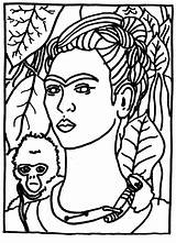 Coloring Kahlo sketch template