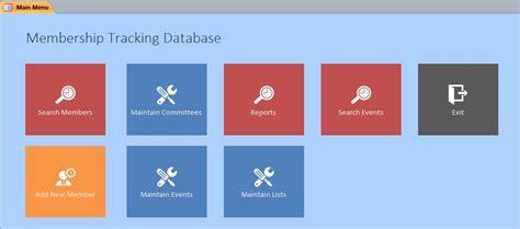 membership tracking  template membership