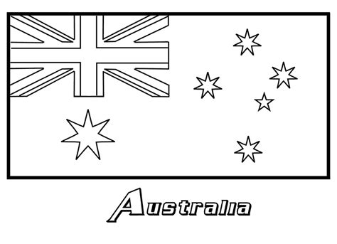 australia flag coloring page coloring book