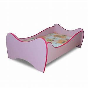 Lit enfant rosesommiermatelas 140x70 cm achat vente for Luminaire chambre enfant avec matelas 33 cm