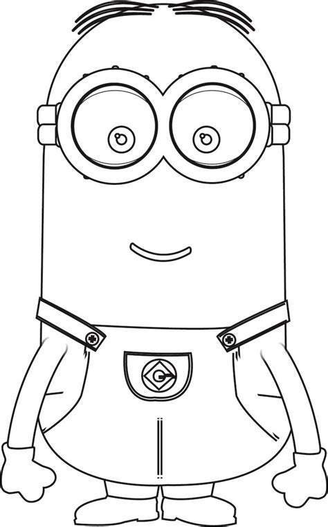 minions kevin perfect coloring page minion coloring