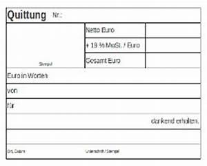 Privat Rechnung Ausstellen : vorlage quittung kostenloser vordruck ~ Themetempest.com Abrechnung