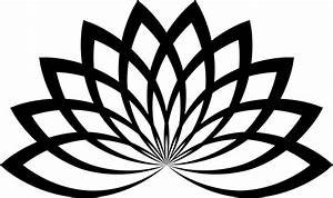 Free Lotus Clipart Black And White Images Download【2018】
