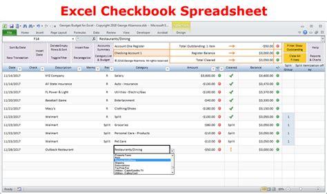 excel budget spreadsheet checkbook register software buy excel