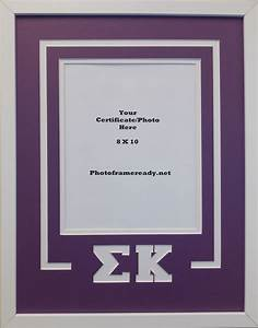 sigma kappa sorority delux wall mount frame for 8x10 With 8x10 document frame