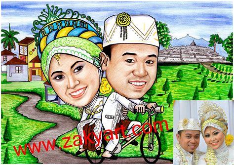 karikaturku indonesia karikatur pengantin naik sepeda