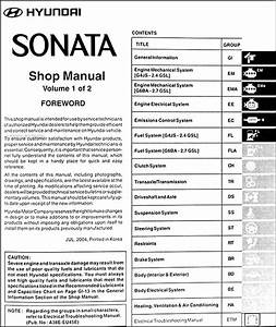 Wiring Manual Pdf  2004 Hyundai Sonata Stereo Wire Harness