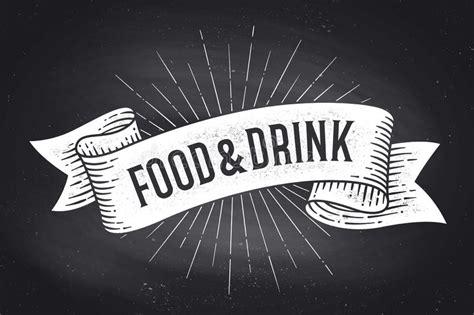 testo vecchia scuola formati delle bandiere della bevanda e dell alimento