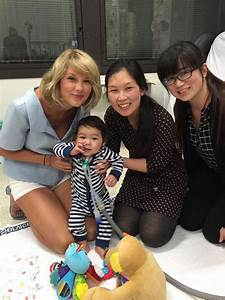 Taylor Swift brightens up children's day with visit to ...