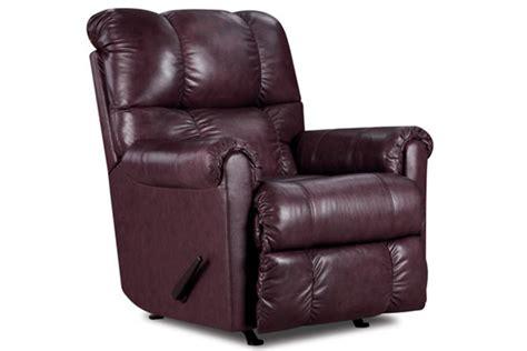 eureka burgundy rocker recliner