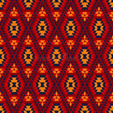 Colorful Red Yellow Blue Aztec Diamond Ornaments Geometric