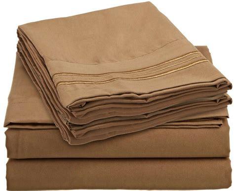 tc  piece bed sheet set mocha brown color full queen