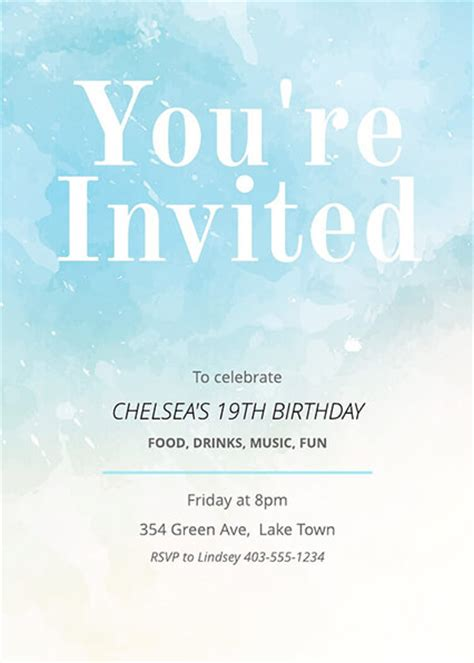 16 free invitation card templates exles lucidpress
