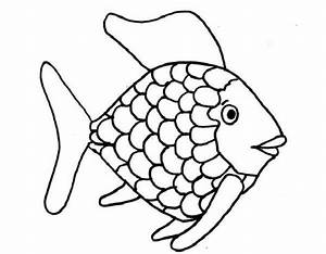 kids printable rainbow fish coloring page free creative With rainbow fish colouring template