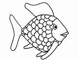 Fish Rainbow Coloring Printable Animal Template Sheets sketch template