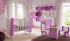 chambre de bebe fille avec lit design et coloree glicerio With tapis chambre bébé avec chambre de culture complete led