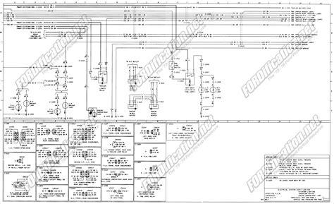 1973 F700 Wiring Diagram by 1973 1979 Ford Truck Wiring Diagrams Schematics