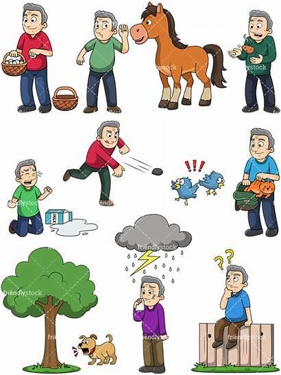 Idioms Popular Clipart Cartoon Vector Birds Stone