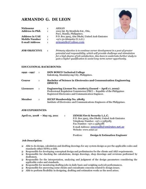 Need Resume Format by Updated Resume Format 2015 Updated Resume Format 2015