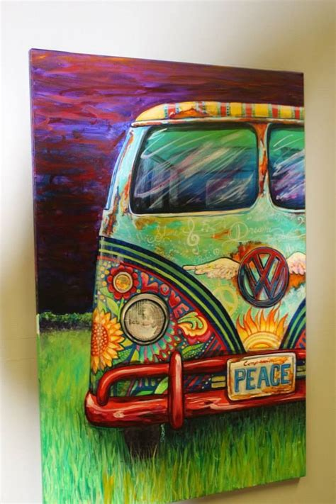 peacemobile vw hippie bus created  kerian babbitt
