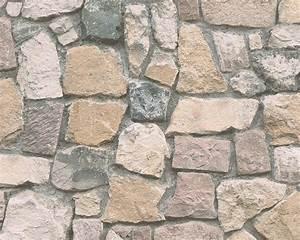 tapete beige grau stein as creation 6924 12 With balkon teppich mit tapete steinoptik selbstklebend