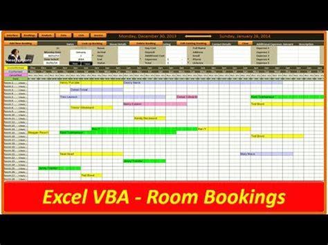 hotel  room bookings vba excel youtube
