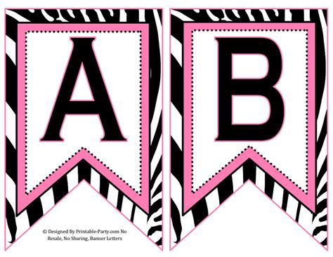 small swallowtail printable banner letters   numbers