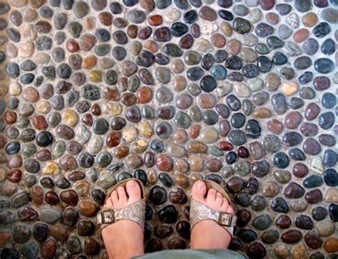 pebble shower floor    nice foot massage
