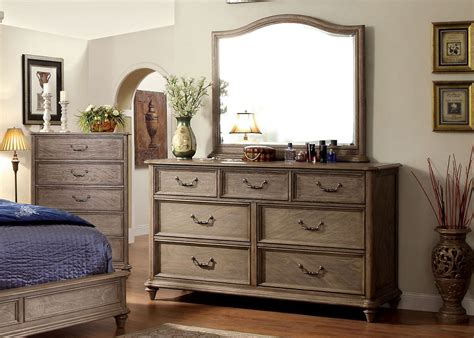 dressers with mirrors transitional dresser mirror in rustic tone finish
