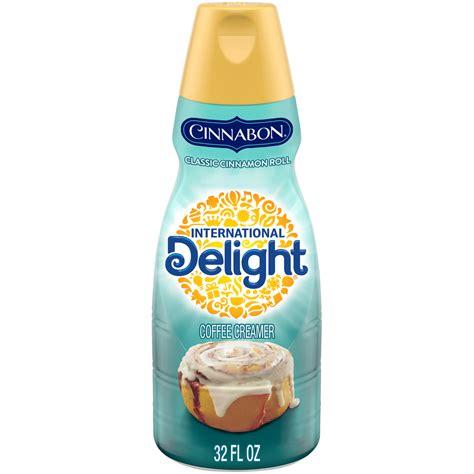 0 grams fiber 0 mg cholesterol 1.0 grams saturated fat 0 mg sodium 0 grams sugar 0. International Delight Cinnabon Coffee Creamer, 1 Quart - Walmart.com - Walmart.com