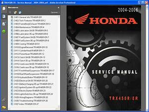 Honda Trx450  2004-2006  - Service Manual