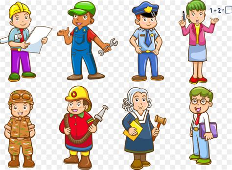 96+ Jobs Avatar Collection With Cartoon Style Vector Free