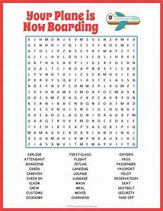 Airplane Word Search