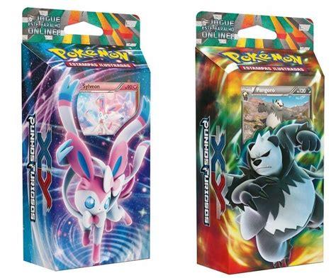 2 Decks Pokémon Xy Punhos Furiosos Sylveon Pangoro Cards