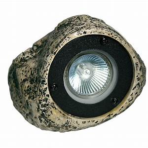 hampton bay 12 volt low voltage 20 watt grey polyresin With 12v garden rock lights