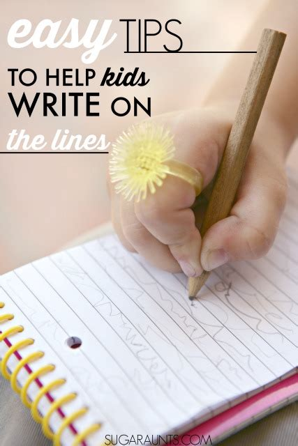 easy tips   kids write   lines  ot toolbox