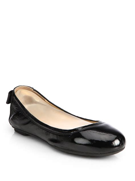 Lyst - Cole Haan Manhattan Patent Leather Ballet Flats in ...