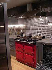 Antique stoves in contemporary kitchen interiors