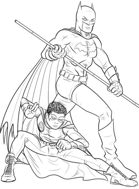 Batman And Robin Coloring Pages Batman Robin Free Colouring Pages