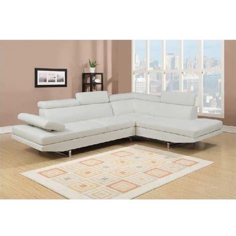 canap en cuir blanc canapé d 39 angle en simili cuir blanc rubic achat vente