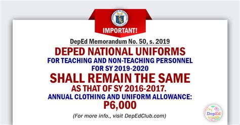 update deped national uniforms teaching teaching personnel